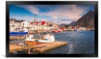 Fishing boat in Norway, Framed Print