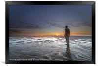 Sunset at Burbo Bank, Framed Print