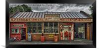 Old village garage., Framed Print