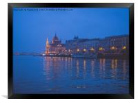 The parliament in Budapest., Framed Print