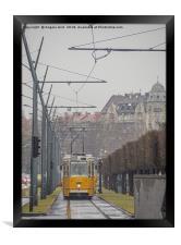 Budapest Tram., Framed Print