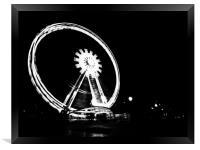 Spinning the Wheel., Framed Print