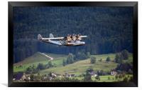 Flying In The Alps, Framed Print