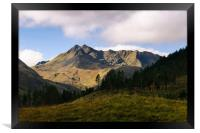 The Saddle and The Forcan Ridge, Framed Print