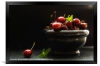Would you like a cherry , Framed Print