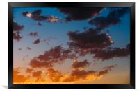 Beautiful Blue And Orange Tranquil Summer Sunset B, Framed Print
