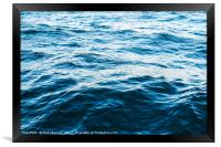 Ocean Waves Abstract, Framed Print