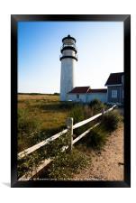 Lighthouse in New England, Framed Print