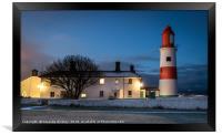 Souter Lighthouse, Framed Print