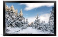 Snow in Teesdale, Framed Print