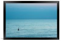 Buoy out to sea, Framed Print
