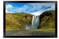 Skogafoss Waterfall Iceland, Framed Print