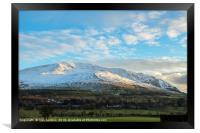 Clough Head Lake District Cumbria in Winter, Framed Print