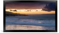 West Angle Bay on a Winter Evening Pembrokeshire, Framed Print