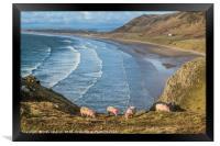 Rhossili Bay Gower South Wales , Framed Print