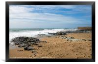 Porthleven Beach and Breakwater Cornwall, Framed Print