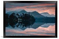 Derwent Water Sunset, Framed Print