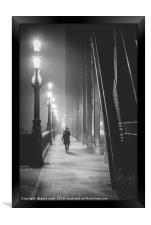 Fog on The Tyne, Framed Print