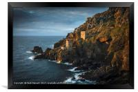 The Two Engine Houses at Botallack, Framed Print