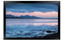 Llyn Peninsular Mountain Outline, Framed Print