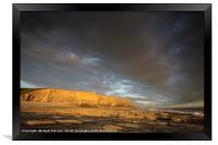 Evening light at Nash Point , Framed Print