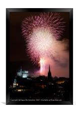 Edinburgh Festival Fireworks from Salisbury Crags, Framed Print