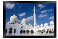 Inner Courtyard of Grand Mosque Abu Dhabi, Framed Print