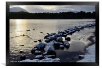 Loch Morlich winter snow, Framed Print