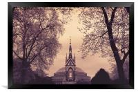 Albert Memorial & Royal Albert Hall, Framed Print