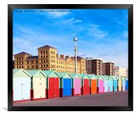 Hove seafront - Brighton & Hove, Framed Print