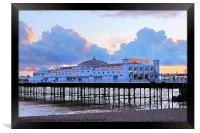 Brighton Palace Pier at twilight, Framed Print