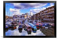 Limehouse Basin, East London, Framed Print