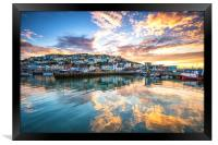 Golden Harbour, Framed Print