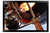 Hot Air Balloon, Burners Lit, Framed Print