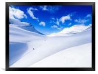 Rondane ski touring. Norway, Framed Print