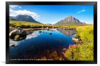 Rannoch Moor and The Buchaille, Framed Print