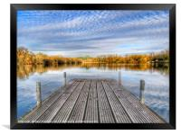 Tongwell Lake Landing Stage, Framed Print