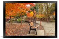 Yountville in  Autumn 2, Framed Print