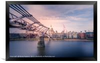 London - Path to St.Pauls, Framed Print