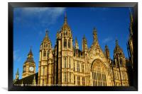 Towers of Palace of Westminster London, Framed Print