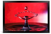 water drop, Framed Print
