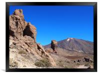 mountains and rocks tenerife , Framed Print