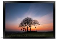 Seven Sisters sunset, Framed Print