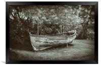 Old Boat - Wet Plate Vintage Collection, Framed Print
