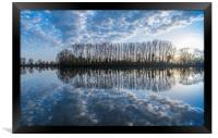 Reflections, Ellerton Park, Yorkshire, Framed Print