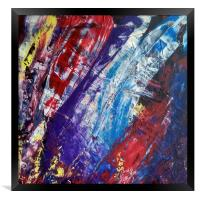Abstract acrylic painting, Framed Print