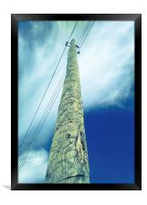Pillar against the blue sky, Framed Print