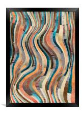 Abstract colorful lines pattern, Framed Print