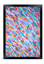 Abstract colorful watercolor pattern , Framed Print