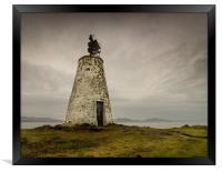The Old Beacon, Llanddwyn Island, Anglesey., Framed Print
